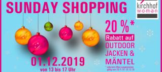 Sunday shopping am 01.12.2019
